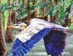 Blue Heron in the Swamp
